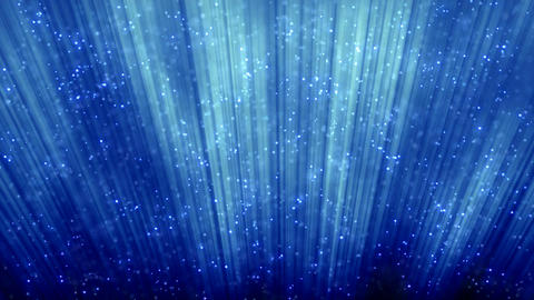 loopable blue background flying particles Stock Video Footage