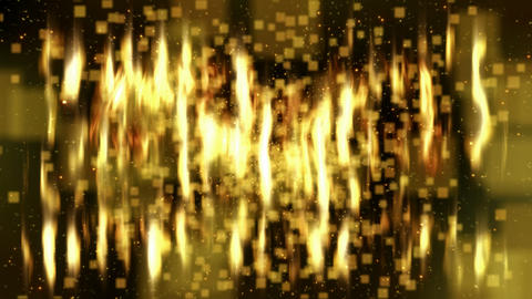 gold flickering loopable abstract background Stock Video Footage