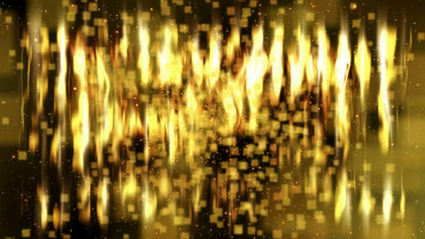 Gold Flickering Loopable Abstract Background stock footage