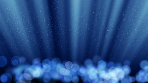 blue loopable background round lights and flying p Stock Video Footage