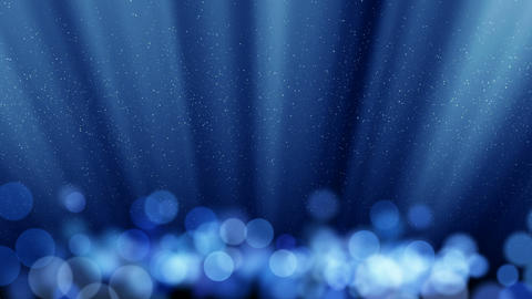 blue loopable background round lights and flying p Animation