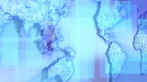 loopable background moving map of the world Stock Video Footage