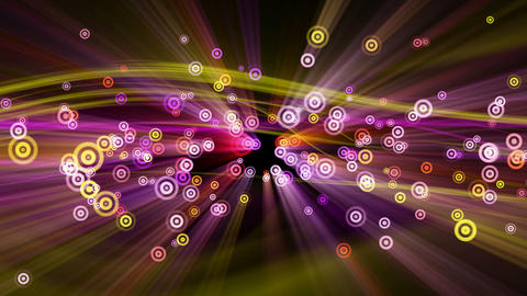loopable background flying circle pulsating partic Animation
