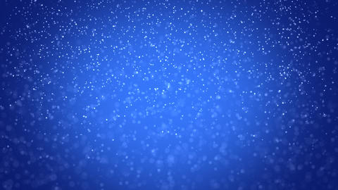 seamless loop snowfall on blue background Animation