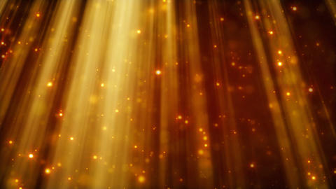loopable background flying golden particles in lig Animation
