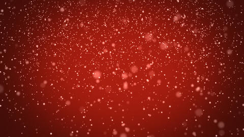 seamless loop snowfall on red background Stock Video Footage