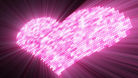 love shape shine pink heart with luma matte Animation