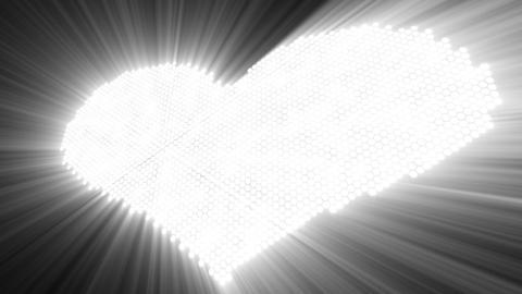 love shape shine pink heart with luma matte Stock Video Footage