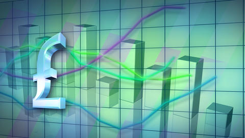 looping business statistic background Stock Video Footage
