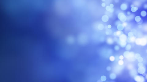 loopable abstract background blue bokeh circles Stock Video Footage