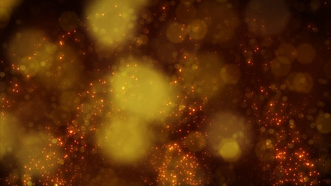 looping background golden particles and circle blu Animation