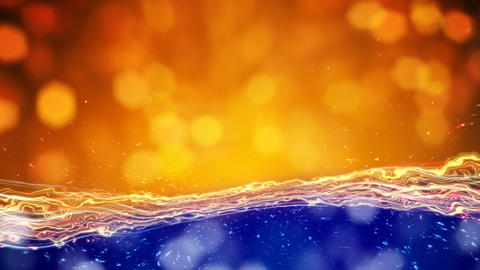 orange blue lights seamless loop abstract backgrou Stock Video Footage