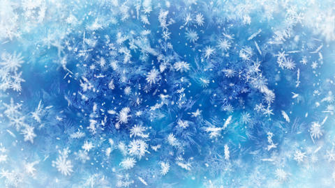 loopable snowfall wintry background Animation