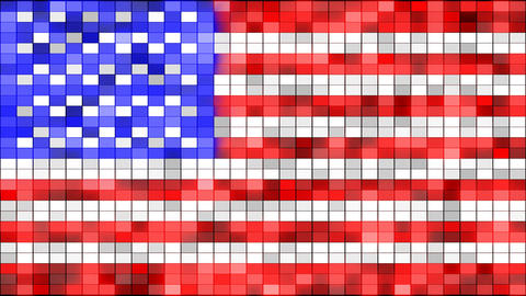 usa flag of shining elements loopable Animation