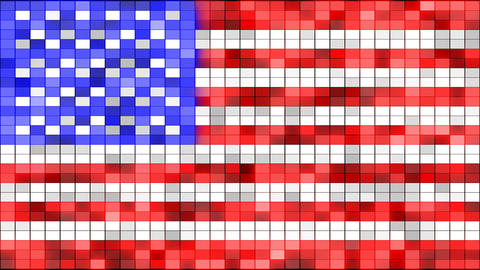 usa flag of shining elements loopable Stock Video Footage