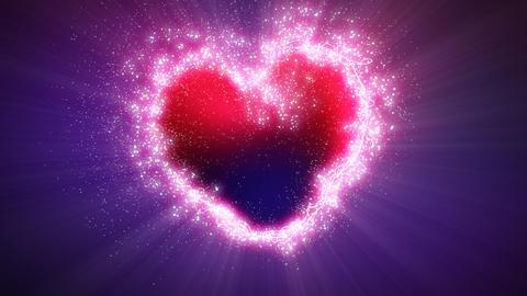 explosive heart shape with luma matte Animation