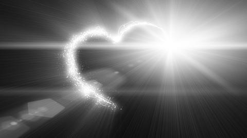 explosive heart shape with luma matte Stock Video Footage