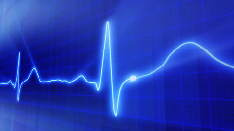 seamless loop blue background EKG electrocardiogra Stock Video Footage