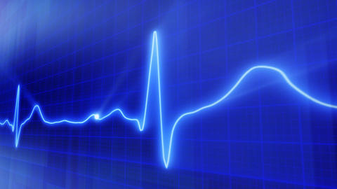 seamless loop blue background EKG electrocardiogra Animation