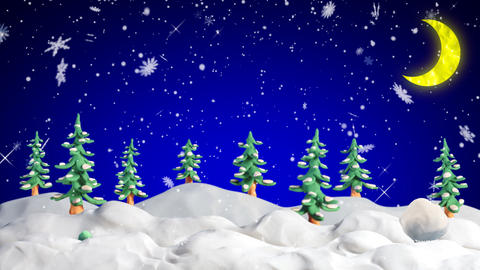 merry christmas clay greetings loopable scene Stock Video Footage