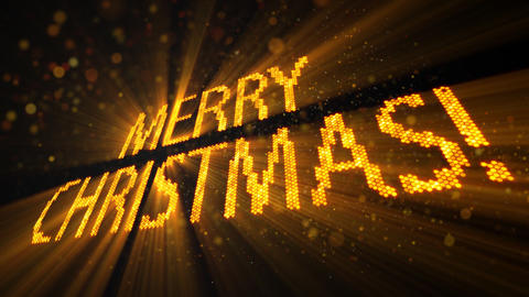 merry christmas of shining yellow elements Animation