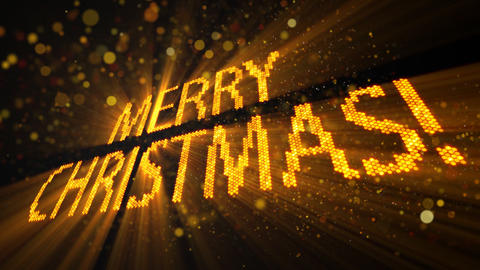 merry christmas of shining yellow elements Stock Video Footage