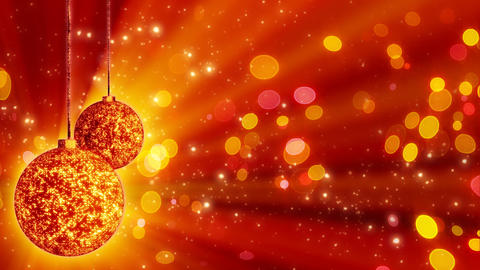 two orange christmas balls loop rotating Stock Video Footage