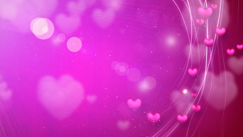 lines and hearts pink romantic loop background Animation