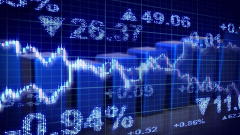 stock market blue loopable business background Stock Video Footage