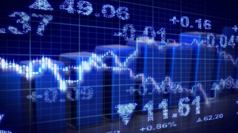 Stock Market Blue Loopable Business Background stock footage