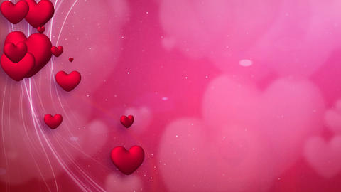 lines and hearts red romantic loop background Animation