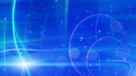 soft blue background flashes and particles loop Animation