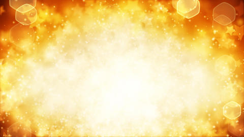 stars on yellow background loop Stock Video Footage