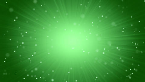 green abstract background light beams and particle Animation