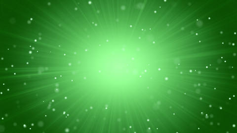 green abstract background light beams and particle Stock Video Footage