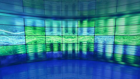 equalizer on screens in virtual studio loop Stock Video Footage