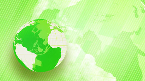 green background globe spinning loop Stock Video Footage