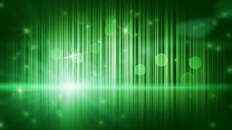 stars lights and vertical stripes green loop backg Animation