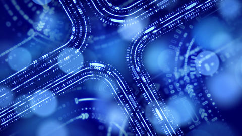 abstract technology blue background loop Stock Video Footage