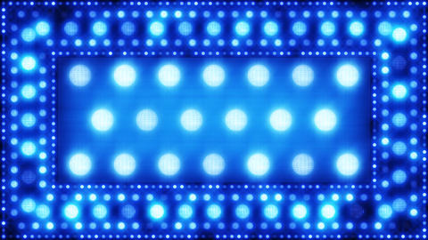 blue glittering light bulbs loopable background Animation
