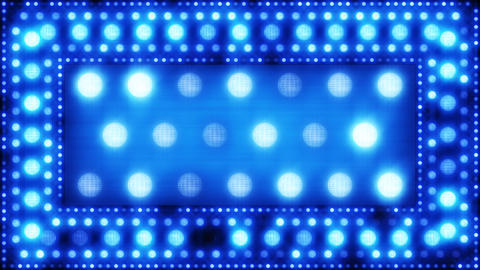blue glittering light bulbs loopable background Stock Video Footage