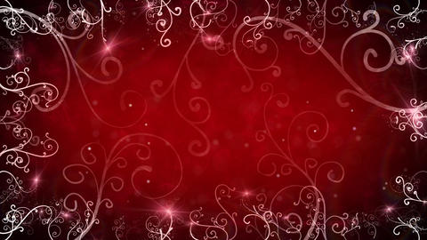 red flourishes frame loop background Stock Video Footage