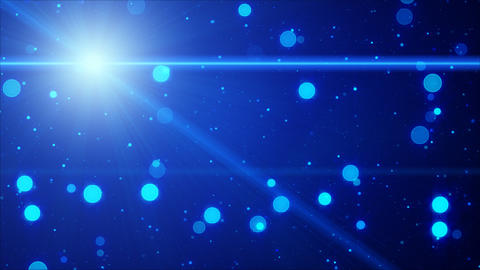 bokeh lights and illuminant blue loop background Stock Video Footage