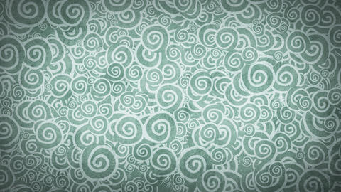 pale gray turquoise curles ornatment loop backgrou Animation