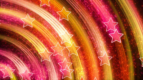 disco stars abstract loopable background yellow pi Stock Video Footage