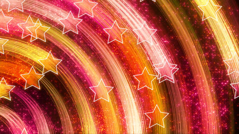 disco stars abstract loopable background yellow pi Animation
