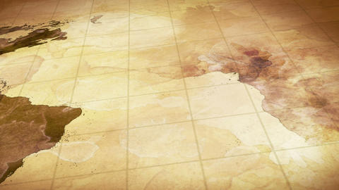 grunge stained map of the world loopable backgroun Stock Video Footage