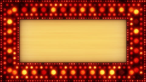 flashing lights golden banner loop Animation