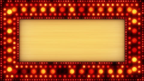 flashing lights golden banner loop Stock Video Footage