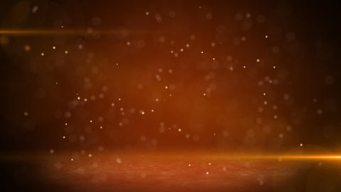 orange light beams and particles loopable backgrou Stock Video Footage